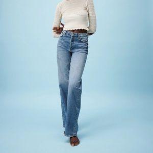Zara High Rise Full Length Denim Jeans Size 0